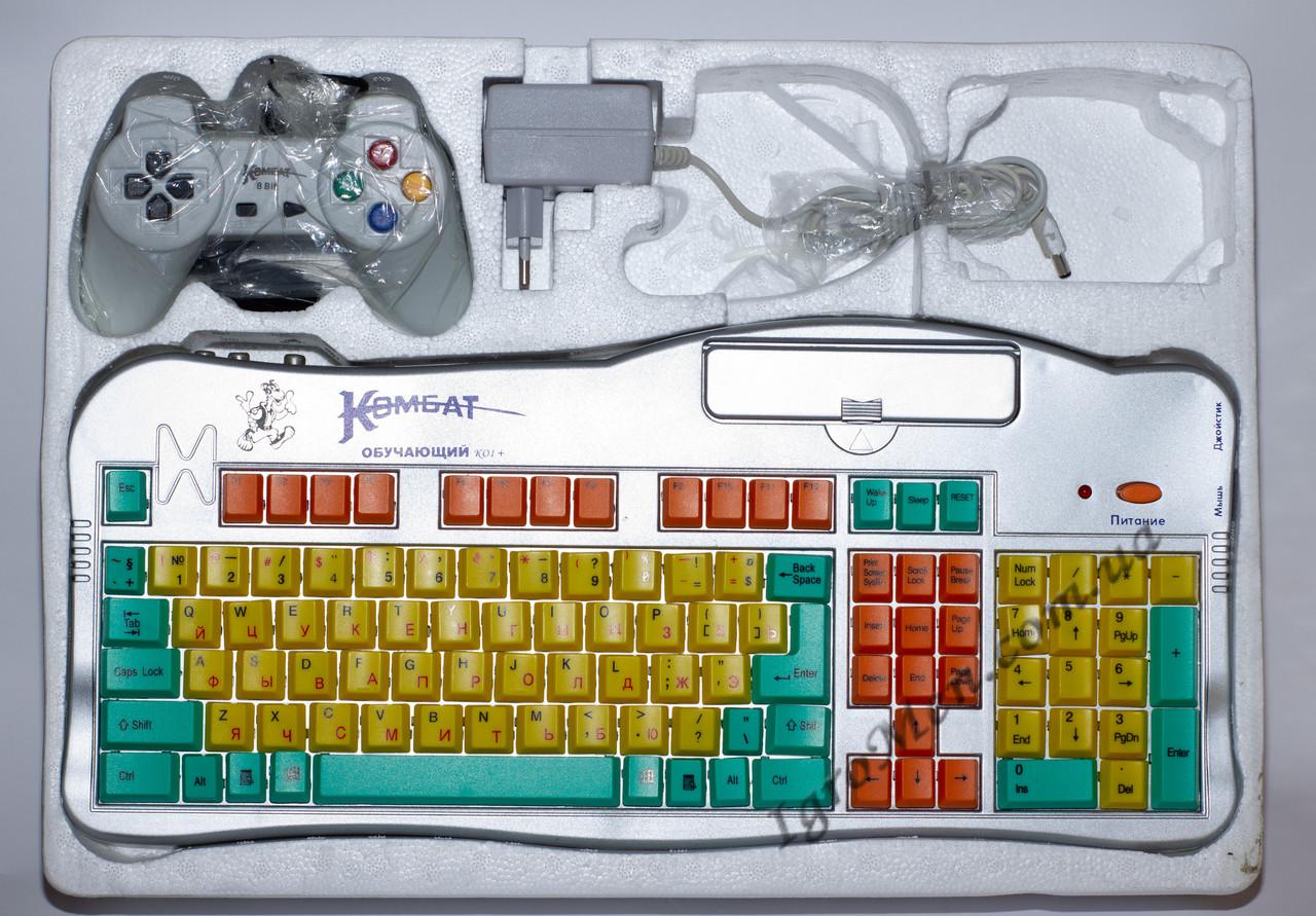 Приставка Денди Клавиатура - Комбат 8 (обучающая, без мышки, 1 дж)