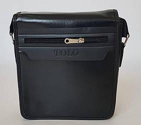 Сумка планшетка «TOLO» черного цвета с плечевым ремнем