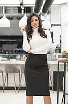 """Замшевая женская юбка-карандаш """"Джени"""" с завышенной талией (4 цвета), фото 3"""