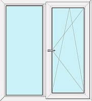 Металлопластиковое окно Steko S300 (энергосберегающее)  без ламинации (белое), AXOR (Украина), внутренняя москитка