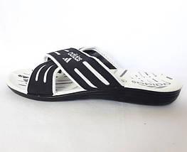 Мужские Шлёпанцы Тапочки ADIDAS Сланцы Black - White (размеры: 40,41,42,44), фото 2