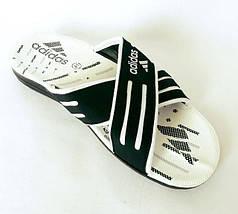 Мужские Шлёпанцы Тапочки ADIDAS Сланцы Black - White (размеры: 40,41,42,44), фото 3