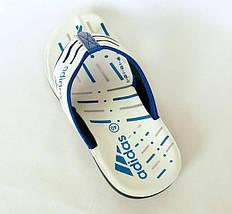 Мужские Шлёпанцы Тапочки ADIDAS Сланцы Вьетнамки Белые (размеры: 40,41,42,44), фото 2