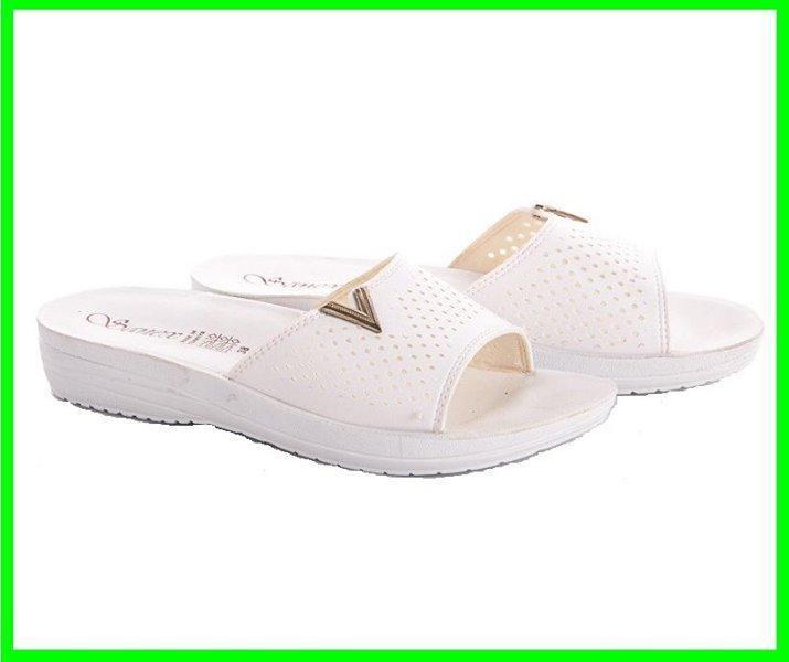 Женские Тапочки Шлёпанцы SANEX Сланцы Вьетнамки Белые (размеры: 36)