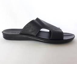 Мужские Шлёпанцы Тапочки MODELX Сланцы Чёрные Кожаные (размеры: 42), фото 2
