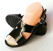 Женские Сандалии Босоножки Чёрные Летняя Обувь (размеры: 36,37,38,39,40,41), фото 2