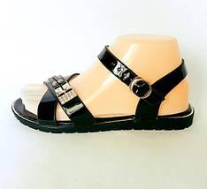 Женские Сандалии Босоножки Летняя Обувь Чёрные (размеры: 36,37,38,39,40,41), фото 3