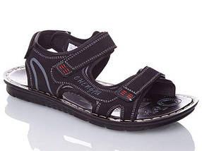 Мужские Сандалии Босоножки Чёрные Шлёпанцы (размеры: 40,41,42,43,44), фото 3