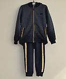 Теплый спортивный костюм для мальчика рост 128-134.  Детский костюм на флисе. Grace 82606, фото 2