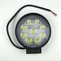 Фара LED круглая 27W (узкий луч)