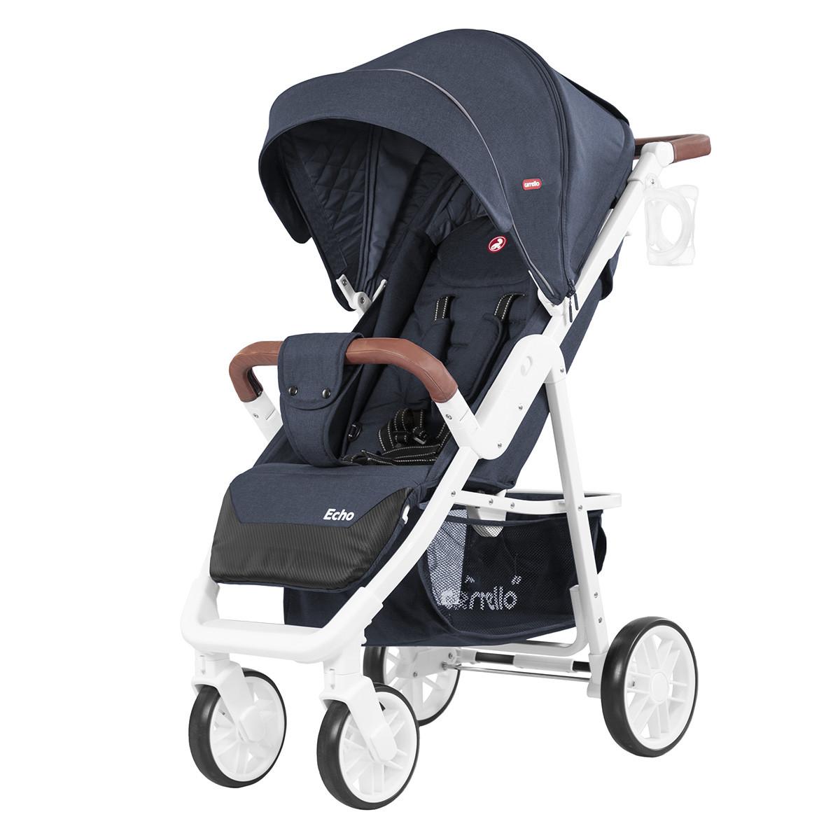 Коляска прогулочная CARRELLO Echo CRL-8508 Shadow Blue + Дождевик L Гарантия качества Быстрая доставка