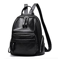 Рюкзак женский кожзам Backpack Trend Черный