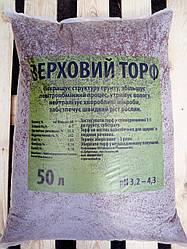 Торф верховий pH 3.8-4.3 фракція 0-40 мм 50 л Україна
