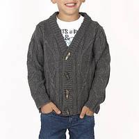 Шерстяной Детский кардиган для мальчика BRUMS Италия 133BFHC010 темно-серый