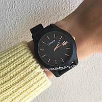 Часы Lacoste чёрные с блестящим циферблатом