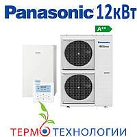 Тепловой насос воздух-вода Panasonic 12 кВт, T-CAP с гидромодулем, фото 1