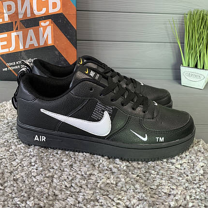 Кроссовки мужские в стиле Nike Air черные, фото 2