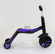Детский самокат 3в1. Трансформация в велосипед и самокат. Звуковые и световые эффекты. JT 10993 Фиолетовый, фото 3