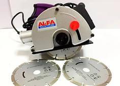 Штроборіз борозник 3100 Вт + 4 диска AL-FA ALBR-31 (Італія), Гарантія 1 рік