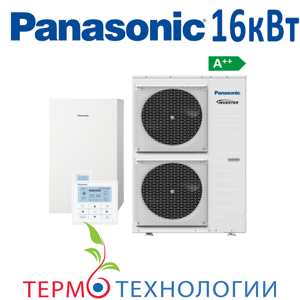 Тепловой насос воздух-вода Panasonic 16 кВт T-CAP с гидромодулем