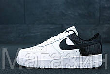 "Мужские кроссовки Nike Air Force 1 Low ""White/Black"" (Hайк Аир Форс) белые, фото 2"