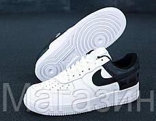 "Мужские кроссовки Nike Air Force 1 Low ""White/Black"" (Hайк Аир Форс) белые, фото 3"
