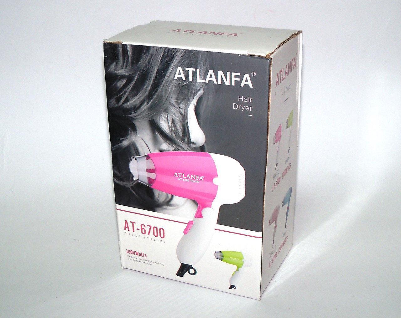 Складаний фен для укладання волосся, 1500w AT-6700