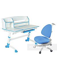 Комплект подростковая парта для школы Amare II Blue + ортопедическое кресло SST10 Blue FunDesk, фото 1