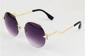 Очки круглые солнцезащитные Fendi 8005