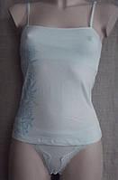 Топ комплект женский стрейч (трусики + маечка) С+3, фото 1