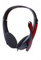 Наушники с микрофоном Videx VHD-135M черно-красные