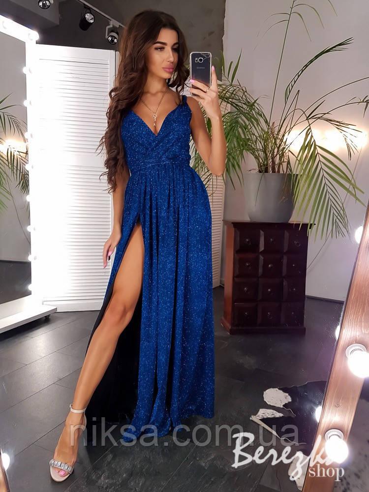 Люрексовое платье макси разные цвета