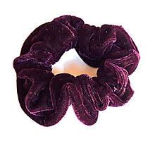 Гумка для волосся, велюр фіолетова, д. 10 см