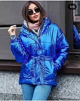 Куртка женская тренд сезона 2019 розовая синяя белая 42 44 46
