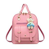 Рюкзак с брелком мишка Тедди(Teddy Beer) розовый.