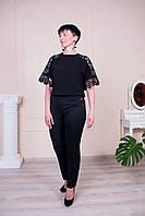 Черные молодежные женские брюки. Размеры 46 - 60, фото 1