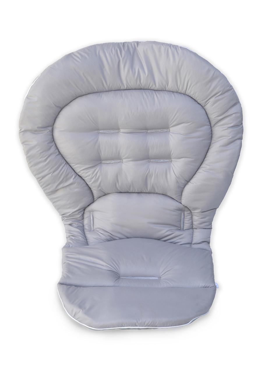 Чехол к стульчику для кормления Chicco Polly Magic 3 в 1 светло-серый, фото 1