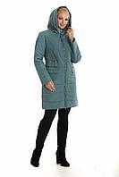 Женская куртка пальто демисезонная стеганная с капюшоном в 3 цветах  44-60 размеры в наличии