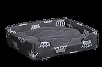 "Лежак (лежанка) для домашних животных Мур-Мяу ""Пижон-2"" Серый"