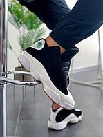 Мужские баскетбольные кроссовки Nike Air Jordan Retro 13 Black White / Обувь майкл джордан найк черно-белые
