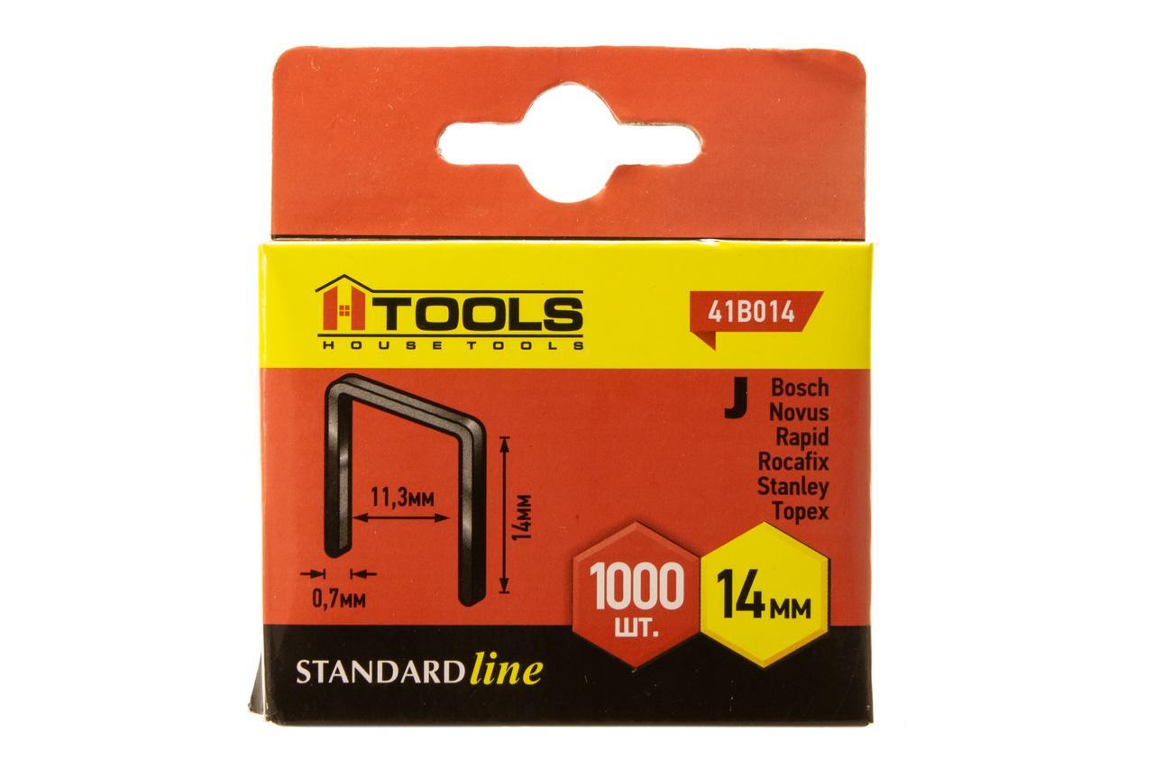 Скобы мягкие тип J (1000 шт), 14 мм HTools, 41B014