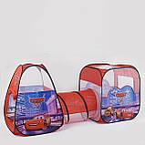 """✅Намет дитячий ігровий 8015C, """"Машинки"""", 2 будиночки з переходом-тунелем, 270*92*92 см, фото 2"""