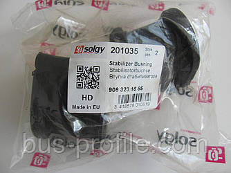 Втулка стабилизатора (переднего) MB Sprinter/VW Crafter 06- (d=23mm) HD — Solgy — 201035