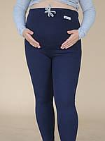 620102 Теплые лосины для беременных в рубчик Синие L