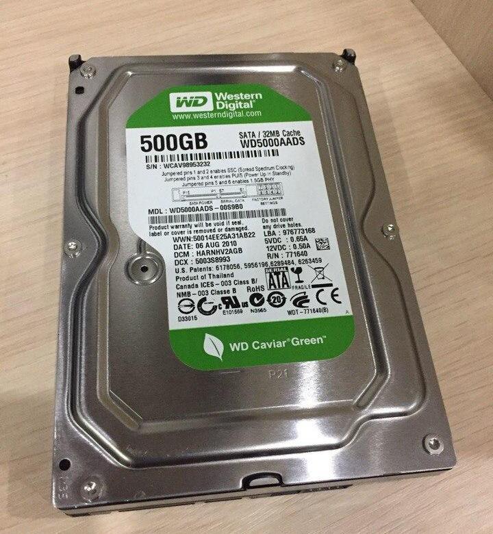 """НАДЕЖНЫЙ Жесткий диск HDD SATA на 500GB SATA2 3.5"""" WD ДЛЯ стационарного ПК в ИДЕАЛЬНОМ состоянии c ГАРАНТИЕЙ"""