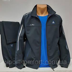 Трикотажный спортивный костюм мужской, Турция, Soccer, тёмно-синий, 70 хлопка, обмен/возврат, размер 52, 54.