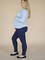 620102 Теплые лосины для беременных в рубчик Синие M