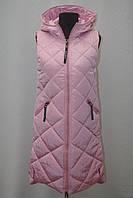 Теплая женская удлиненная жилетка Фабричный Китай супер качество 42р-50р