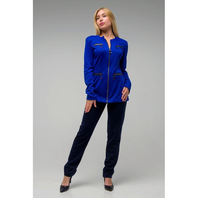 Стильный молодежный костюм Азимут электрик+синий(44-52)
