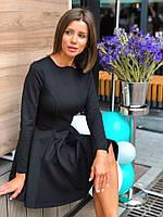 Платье женское стильное лаконичное мини с пышной юбкой солнце Smdi3715
